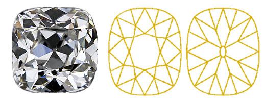Old-mine-cut-cushion-geslepen-diamant-Diamantwisselkantoor