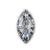 Marquise geslepen diamant bovenkant