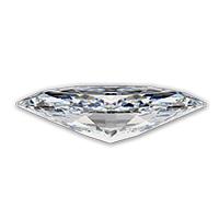 Marquise geslepen diamant zijkant