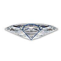 Marquise-geslepen-diamant-bow-tie-effect-zijkant